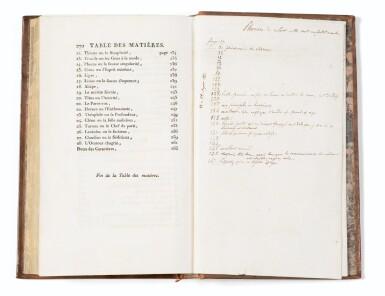 View 3. Thumbnail of Lot 167. Oeuvres. 1806 . Rel ép. Précieux exemplaire annoté (plus de 115 annotations)..