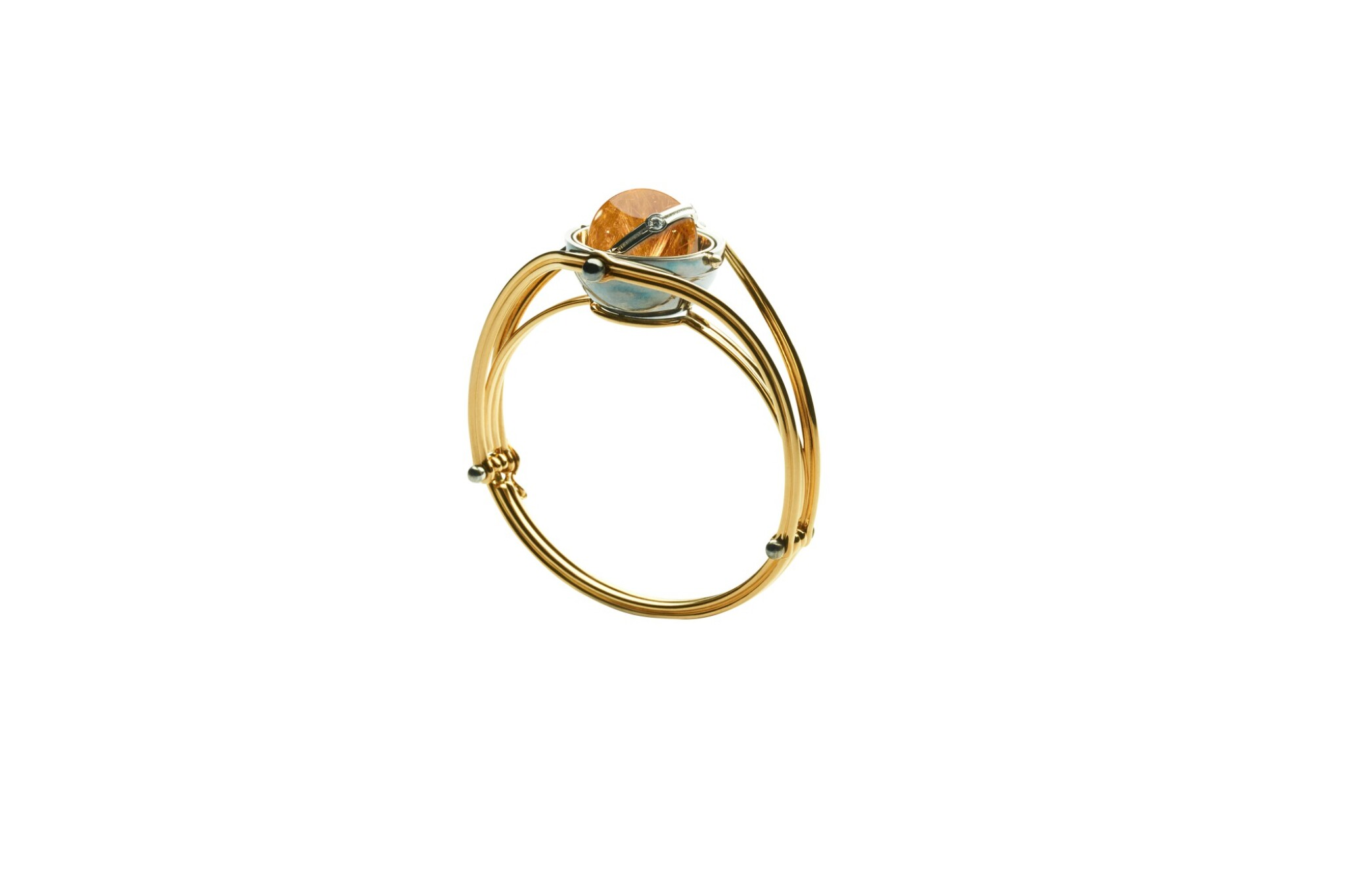 View full screen - View 1 of Lot 4. Elie Top, Rutile Quartz and Diamond Bracelet [Bracelet Quartz Rutile et Diamant], 'Pluton' .