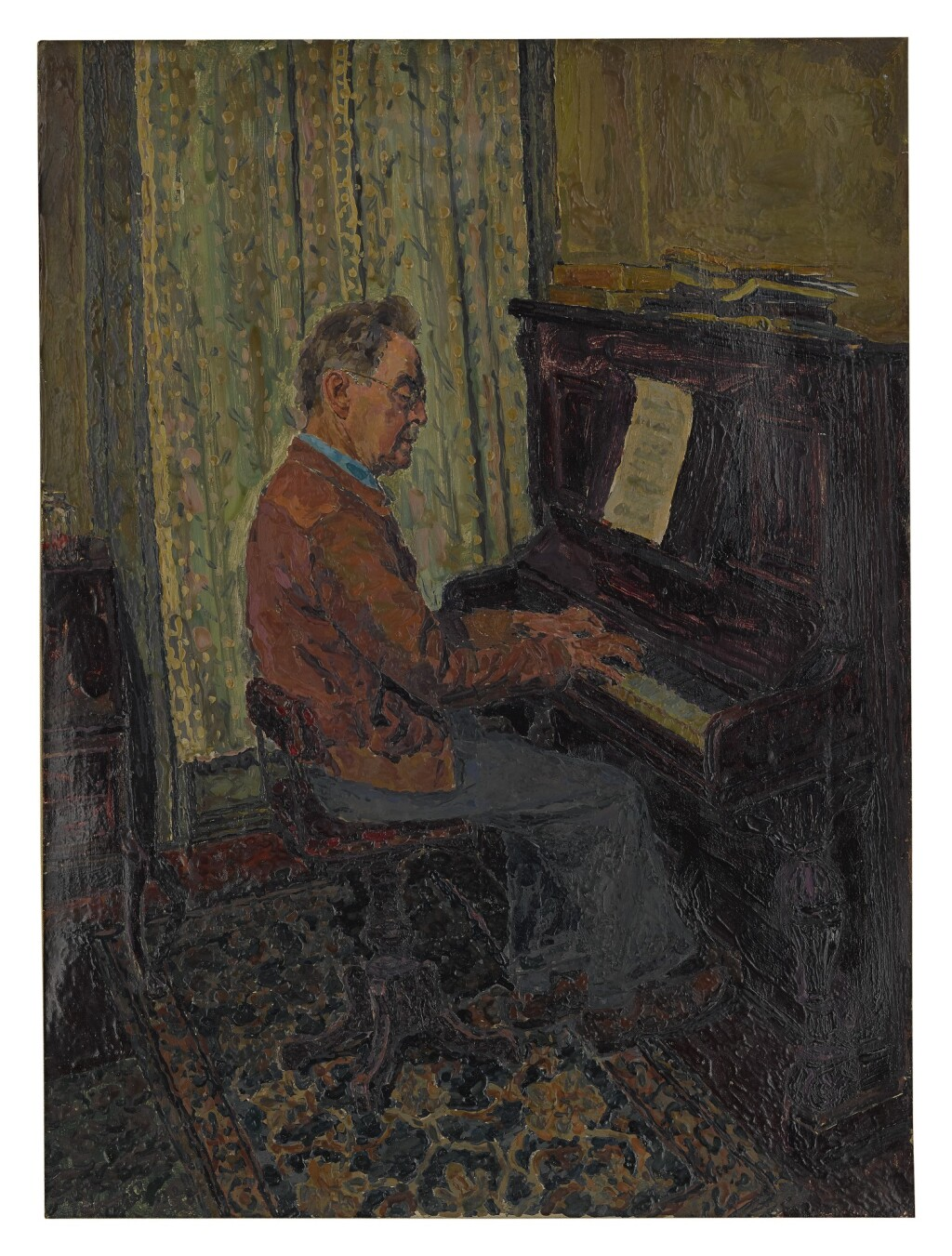 HERMAN ROSE | MAN AT THE PIANO AND STILL LIFE WITH CHILD'S TOYS: A DOUBLE-SIDED WORK