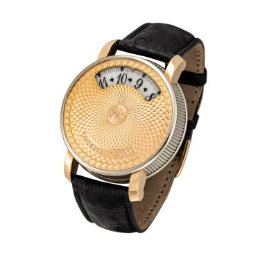 View 2. Thumbnail of Lot 2204. Andersen Geneve   Montre À Tact, A limited edition two colour gold wristwatch with wandering time display, Circa 2002   Montre À Tact  限量版雙色金腕錶,備扇形時間顯示,約2002年製.