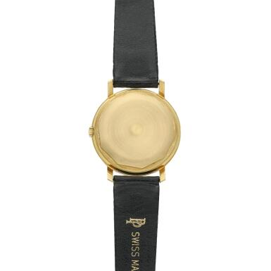 View 5. Thumbnail of Lot 246. Reference 3445  A yellow gold automatic wristwatch with date, Made in 1972.