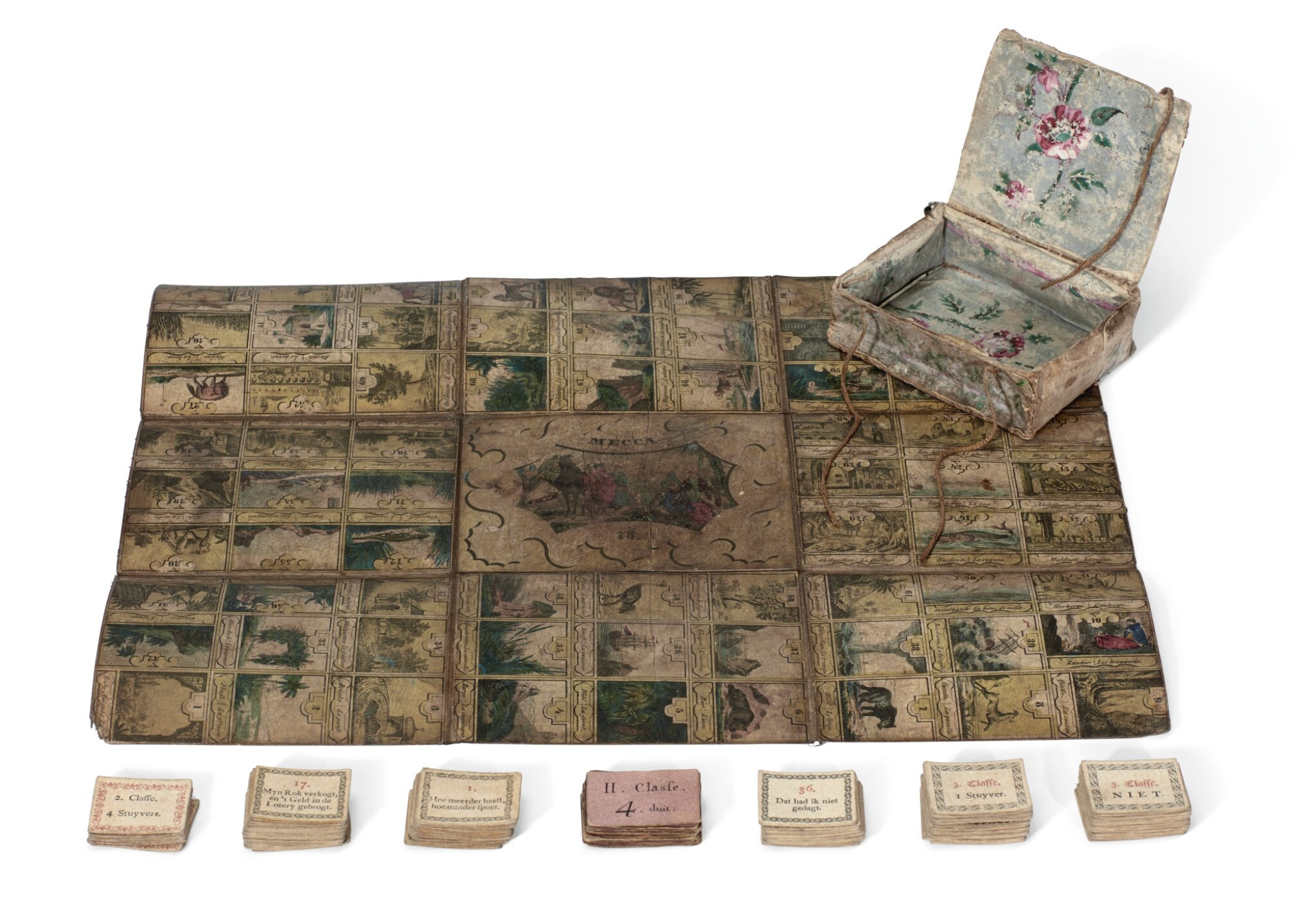 View full screen - View 1 of Lot 172. Mecca--Boardgame, early 19th century.