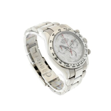 View 3. Thumbnail of Lot 8. REFERENCE 116509 DAYTONA A WHITE GOLD AUTOMATIC CHRONOGRAPH WRISTWATCH WITH METEORITE DIAL AND BRACELET, CIRCA 2003.
