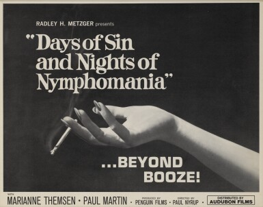 Mellem Veneer / Days of Sin and Nights of Nymphomania (1963) title card, US