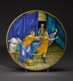 An Italian maiolica istoriato plate, circa 1530-5, Urbino, workshop or circle of Nicola da Urbino