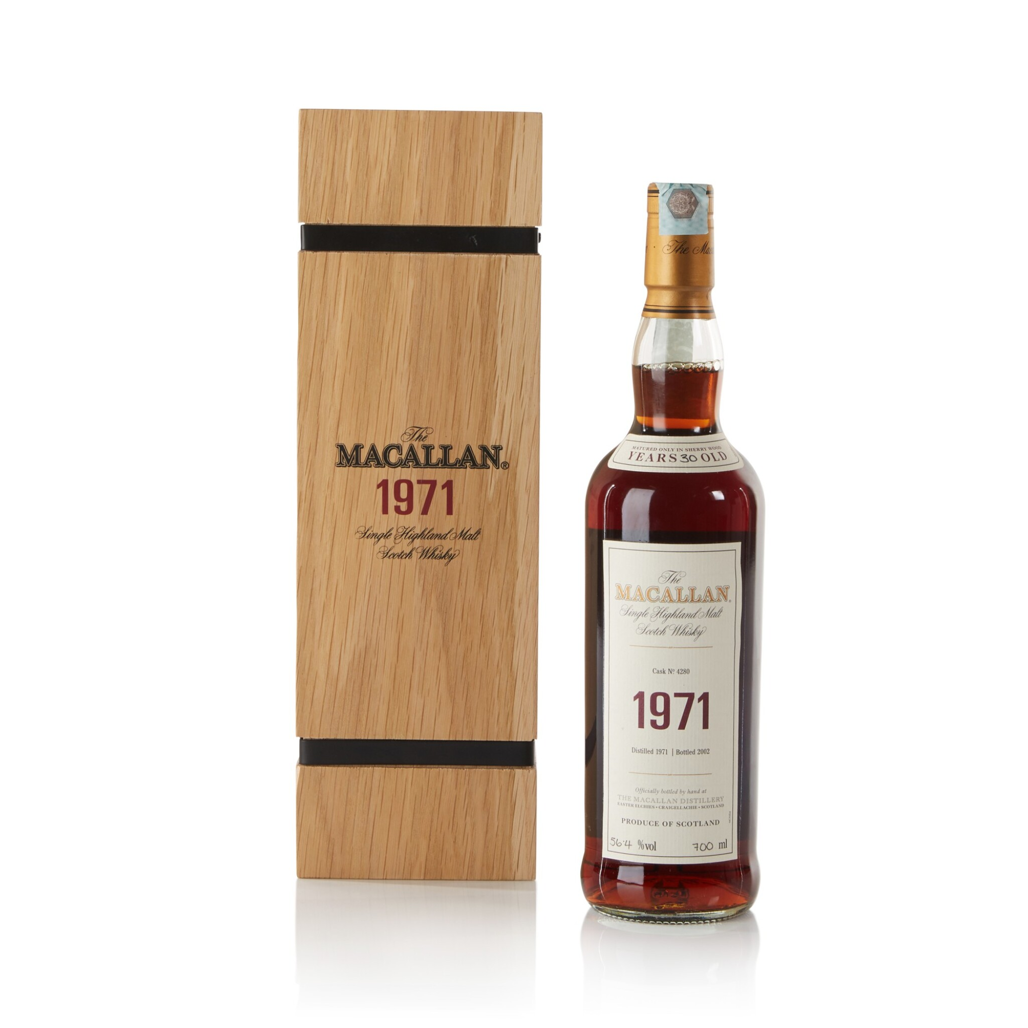 View full screen - View 1 of Lot 15. The Macallan Fine & Rare 30 Year Old 56.4 abv 1971 .
