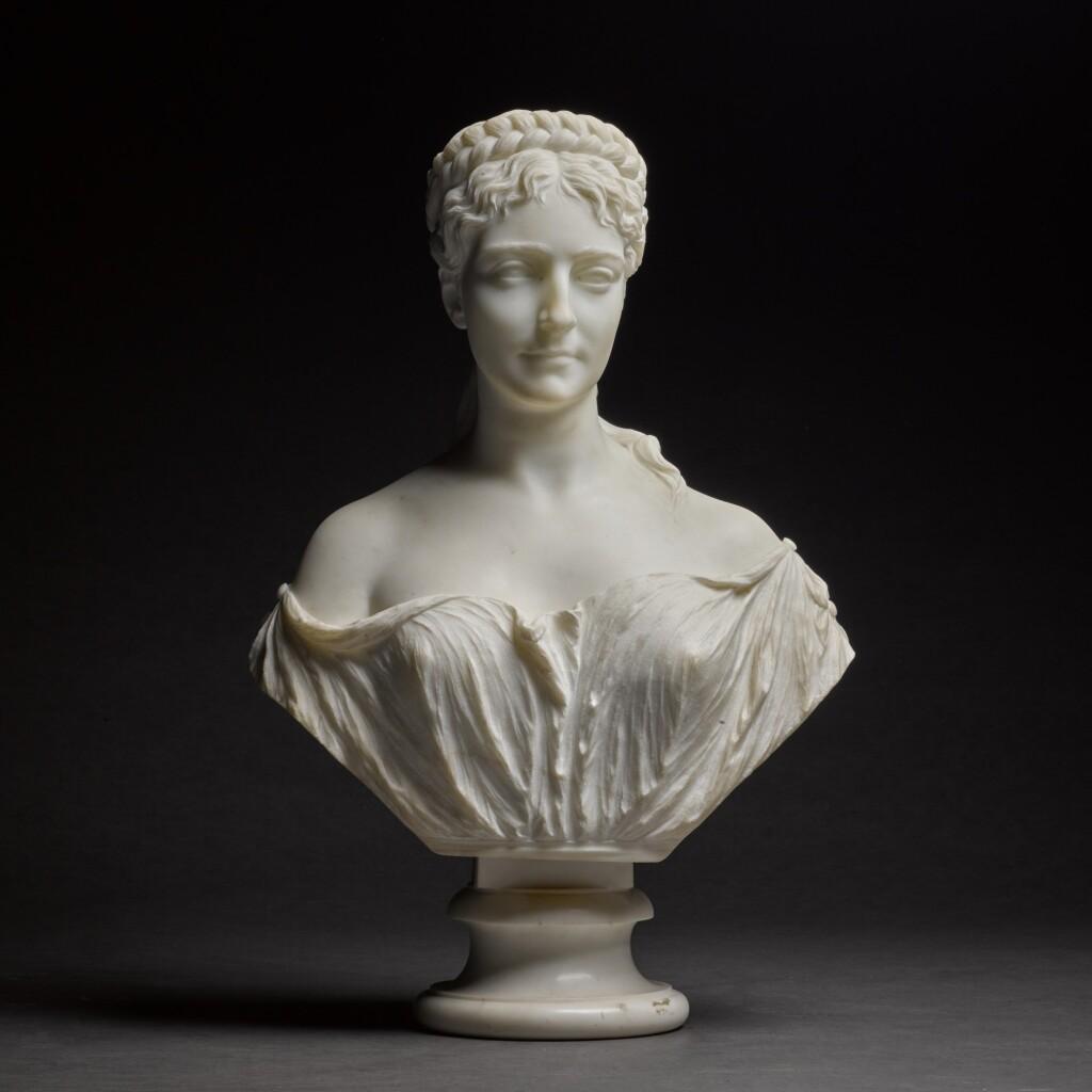 PROSPER D' EPINAY | BUST OF ATHENAIS MARIE GRYMES (1832-1897)