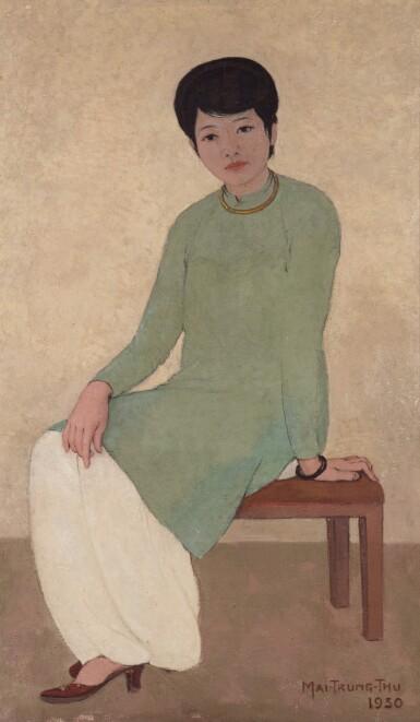 View 2. Thumbnail of Lot 1026. Mai Trung Thu 梅忠恕 | Portrait de Mademoiselle Phuong 芳小姐的肖像.