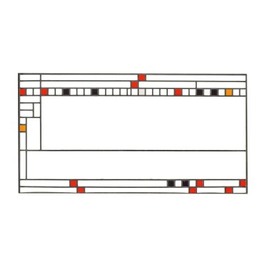 FRANK LLOYD WRIGHT | CLERESTORY WINDOW FROM THE AVERY COONLEY PLAYHOUSE, RIVERSIDE, ILLINOIS
