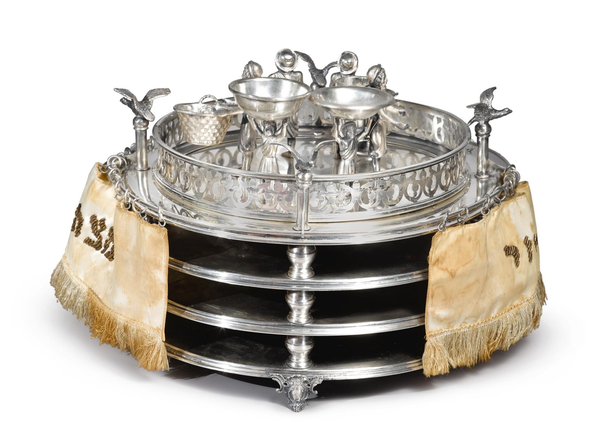 View full screen - View 1 of Lot 143. A SILVER SEDER COMPENDIUM, PROBABLY GERMAN OR AUSTRIAN, LATE 19TH CENTURY.
