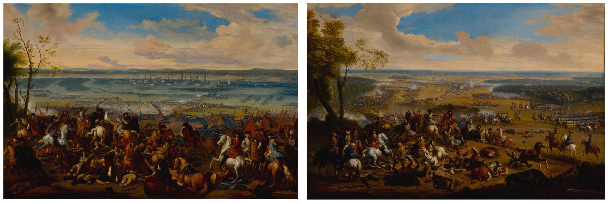 View full screen - View 1 of Lot 636. Battle of Torino, and another battle scene.