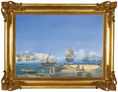 View 2. Thumbnail of Lot 208. Valletta, a view of the Grand Harbour.
