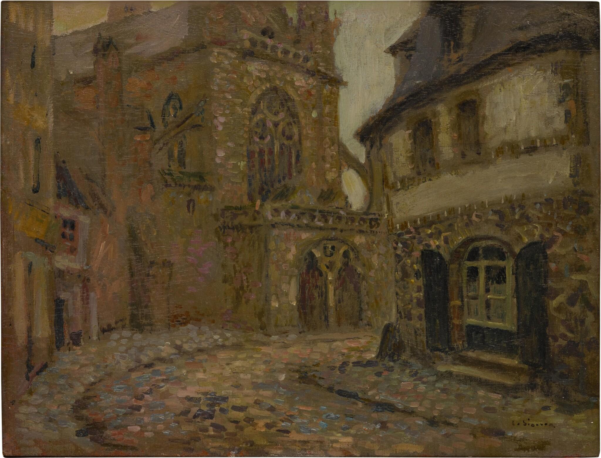 View full screen - View 1 of Lot 12. L'Église, Tréguier.