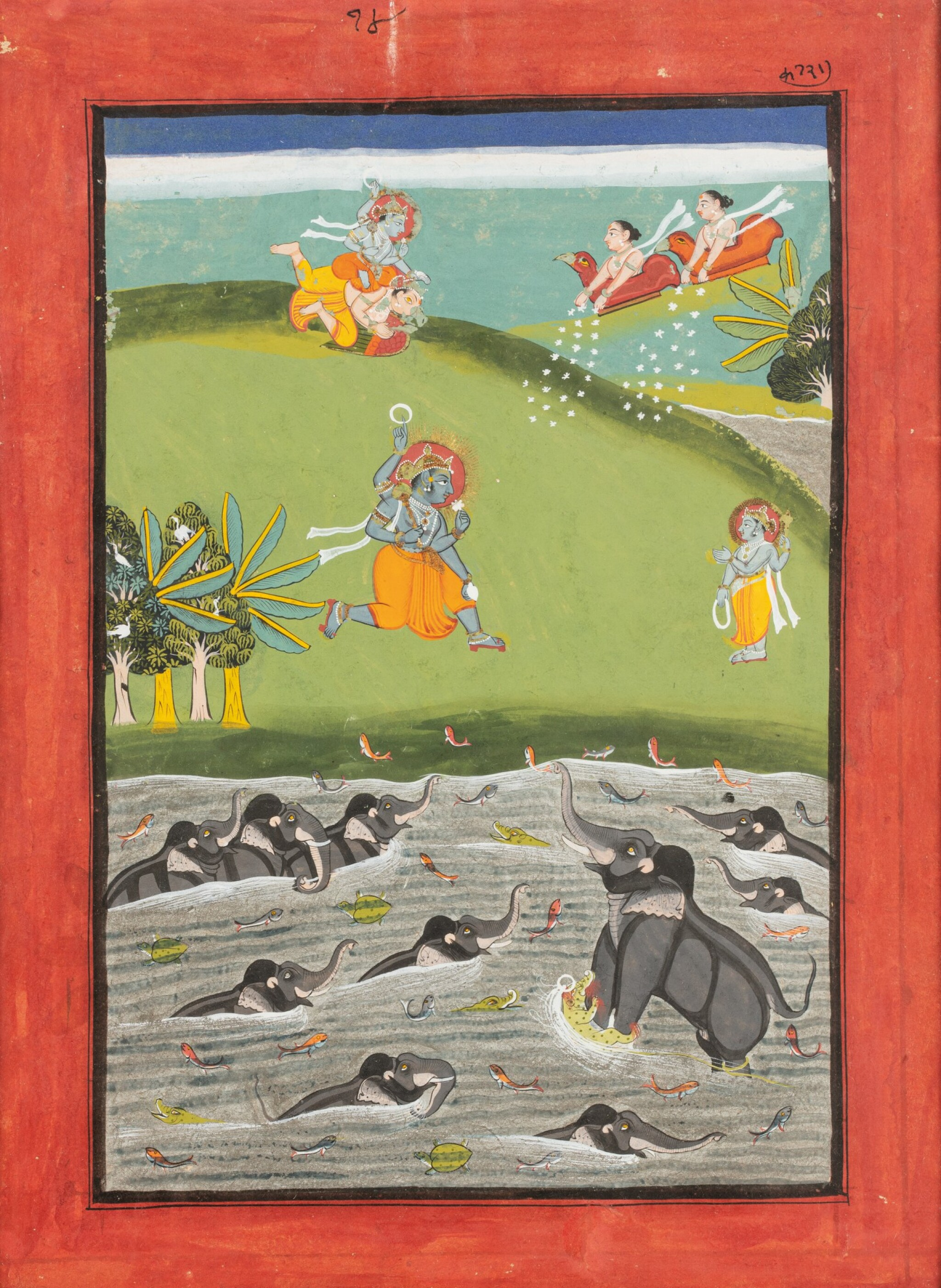 View full screen - View 1 of Lot 37. RAJASTHAN, LATE 18TH CENTURY AND 19TH CENTURY | SIX INDIAN MINIATURES.