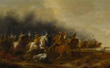 View 2. Thumbnail of Lot 73. Cavalry skirmish.