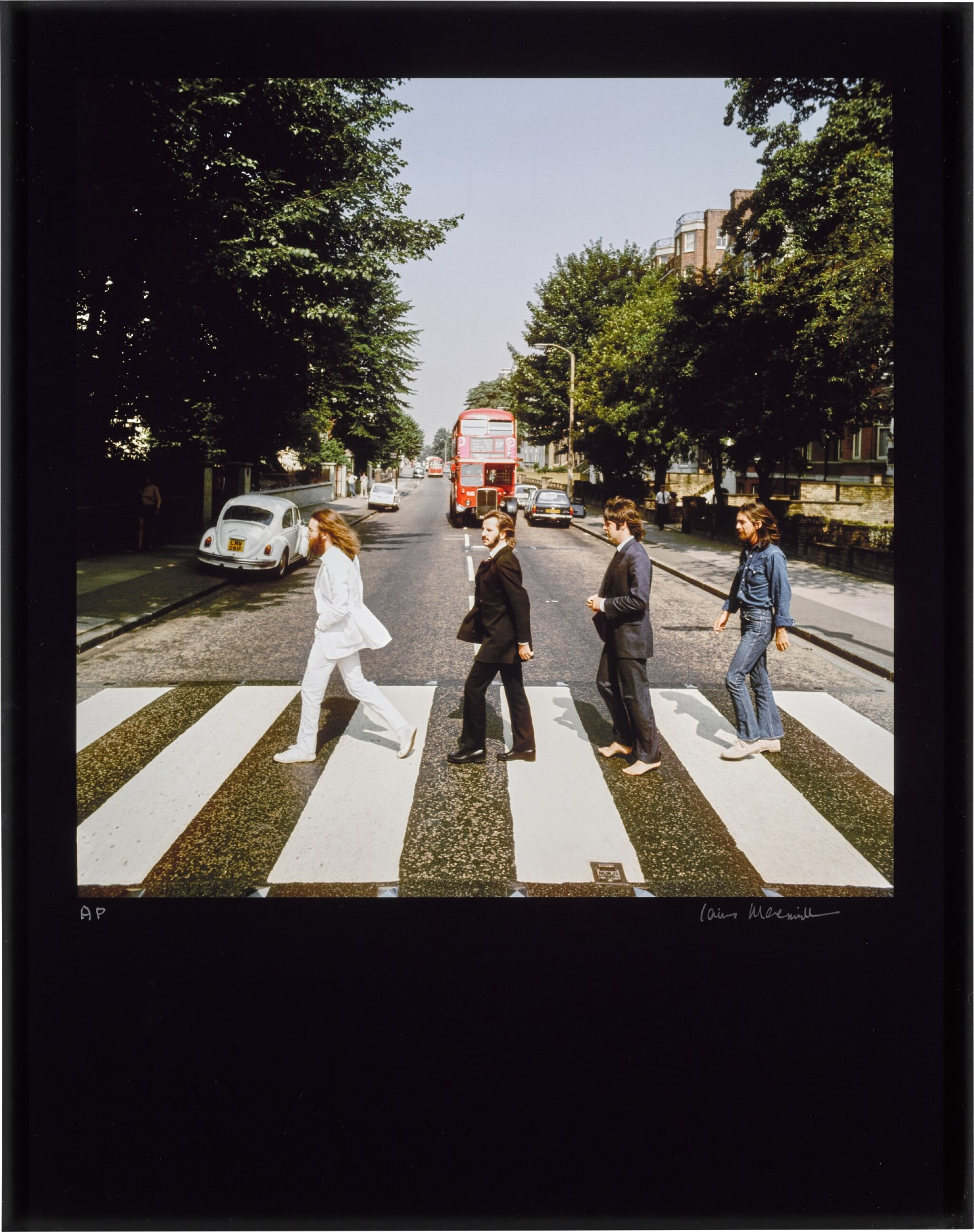 View full screen - View 1 of Lot 56. IAIN MACMILLAN   The Beatles, Abbey Road Out-take, 1969, chromogenic print, signed and numbered AP .