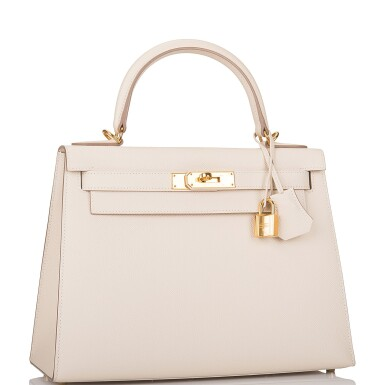 Hermes Craie Sellier Kelly 28cm of Epsom Leather with Gold Hardware