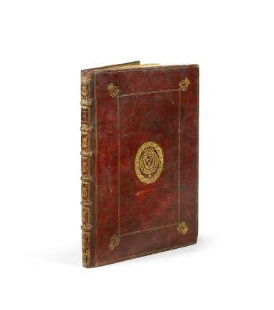 LIVRE DE FÊTES. Les Plaisirs de l'Isle enchantée et Feste de Versailles, 1673-79. In-fol mar. rouge aux armes royales.