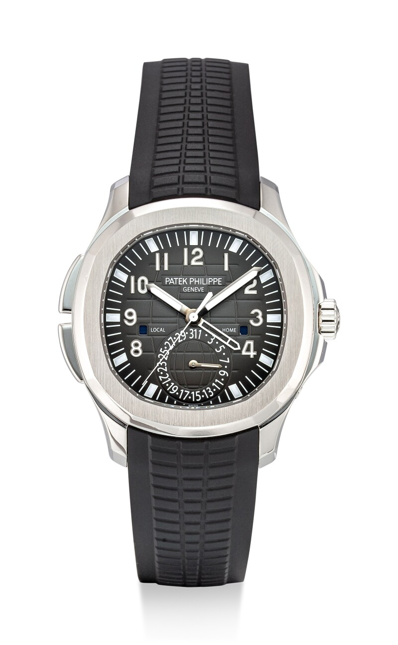 Aquanaut Travel Time, Reference 5164 A Stainless Steel Dual Time Zone Wristwatch With Date and Day and Night Indication, Circa 2019