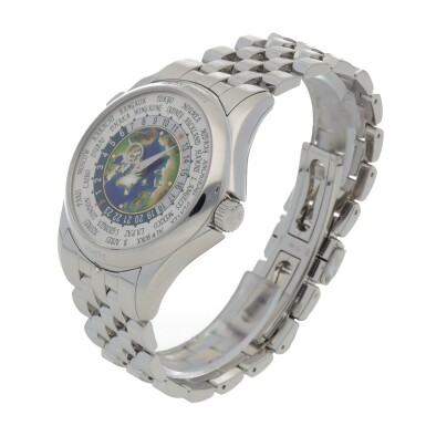 View 2. Thumbnail of Lot 342. WORLD TIME, REF 5131P PLATINUM WORLD TIME WRISTWATCH WITH BRACELET CIRCA 2018.