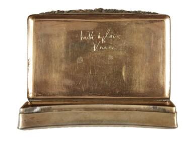View 2. Thumbnail of Lot 199. [JOSEF VON STERNBERG]   Cigarette Case Gifted from Vivien Leigh to Josef von Sternberg.