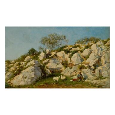 FEDERICO DEL CAMPO | GOATHERD IN A ROCKY LANDSCAPE