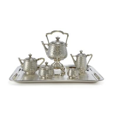 ROYAL: A FRENCH PARCEL-GILT SILVER TEA AND COFFEE SET, CHRISTOFLE & CIE, PARIS, 1867-68