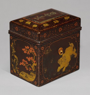 View 2. Thumbnail of Lot 64. A LACQUER CHABAKO [TEA BOX], MOMOYAMA-EDO PERIOD, LATE 16TH-EARLY 17TH CENTURY.