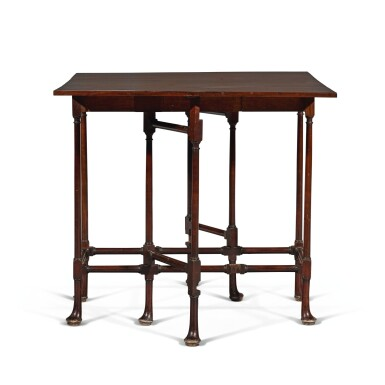 View 3. Thumbnail of Lot 252. A George III mahogany spider-leg table by Thomas Chippendale, 1768.
