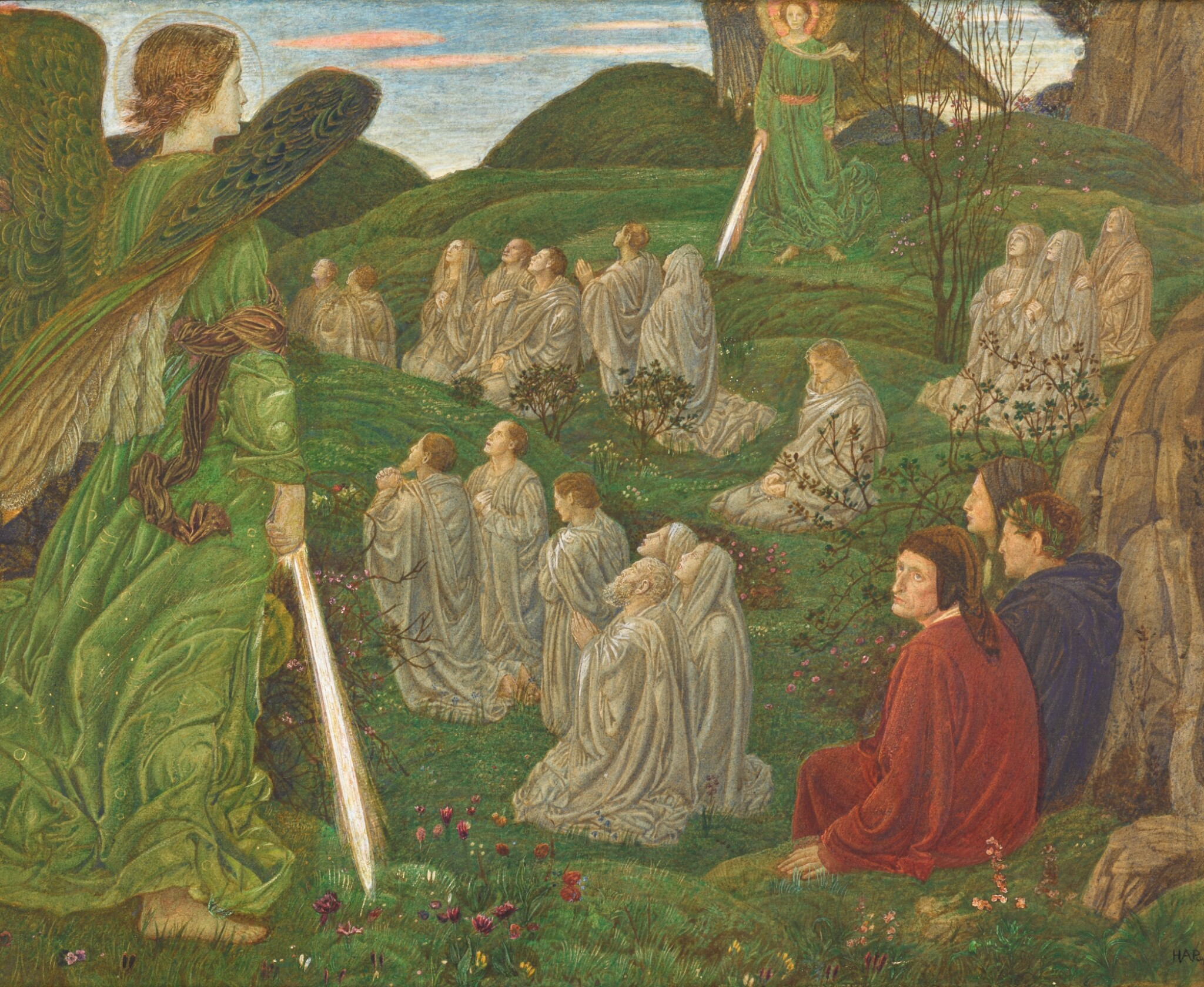 HENRY ARTHUR PAYNE | THE GREEN VALLEY, PURGATORIO CANTOS VII-VIII
