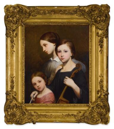 View 2. Thumbnail of Lot 676. Portrait of René, Cécile and Louise Franchomme.