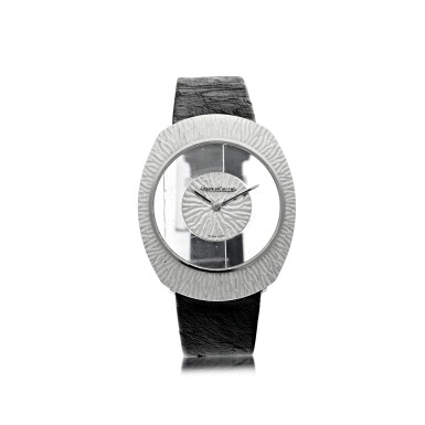 View 1. Thumbnail of Lot 58. REFERENCE 17007 A WHITE GOLD OVAL MYSTERY WATCH, CIRCA 1965.