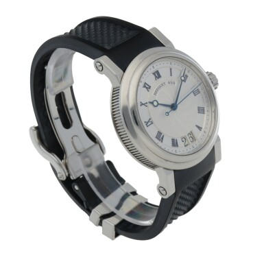 View 3. Thumbnail of Lot 924. MARINE, REF 5817 STAINLESS STEEL WRISTWATCH WITH DATE CIRCA 2009     .