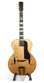 JOHN LENNON   semi-acoustic guitar from the collection of Jesse Ed Davis, inscribed by Lennon, 1975