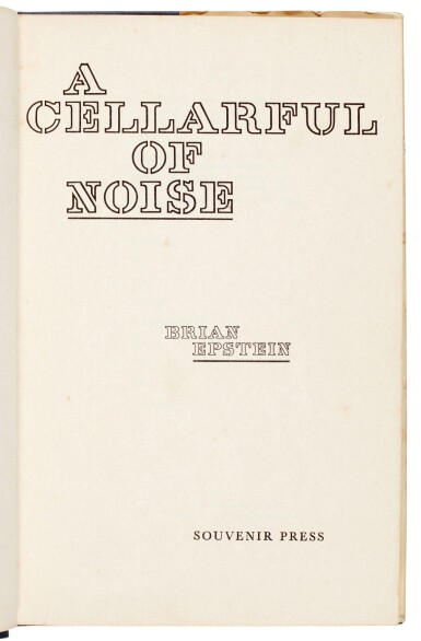 View 3. Thumbnail of Lot 28. EPSTEIN | A Cellarful of Noise, 1964, inscribed.