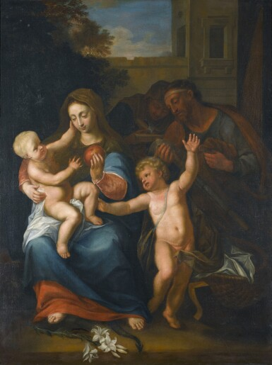 View 1. Thumbnail of Lot 280. PIETER VAN DER WERFF | THE VIRGIN AND CHILD, WITH THE INFANT SAINT JOHN THE BAPTIST AND SAINT ANNE.