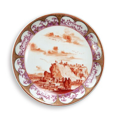 A MEISSEN SAUCER CIRCA 1725-30