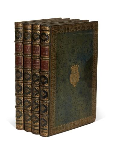 View 4. Thumbnail of Lot 69. Bible, London, 1751, 4 volumes, navy morocco gilt, Newcastle copy.