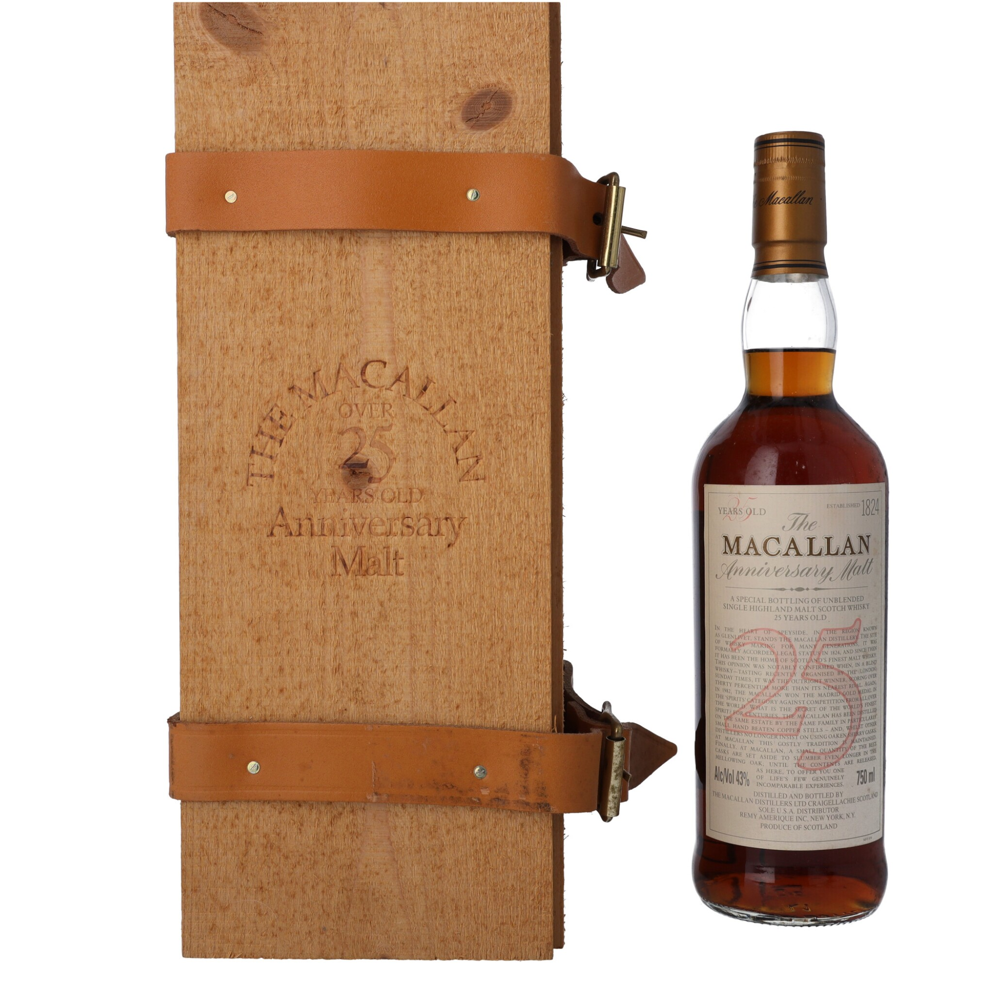 View full screen - View 1 of Lot 15. The Macallan 25 Year Old Anniversary Malt 43.0 abv NV (1 BT75).
