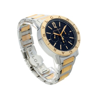 View 3. Thumbnail of Lot 7. REFERENCE BB 41 SPG CH A STAINLESS STEEL AND YELLOW GOLD AUTOMATIC CHRONOGRAPH WRISTWATCH WITH DATE AND BRACELET, CIRCA 2010.