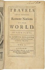 SWIFT, JONATHAN | Travels into Several Remote Nations of the World ... by Lemuel Gulliver. London: Benj. Motte, 1726