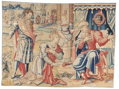 View 1. Thumbnail of Lot 4. A Flemish classical narrative tapestry, possibly from the Story of David, Brussels, first quarter 16th century.