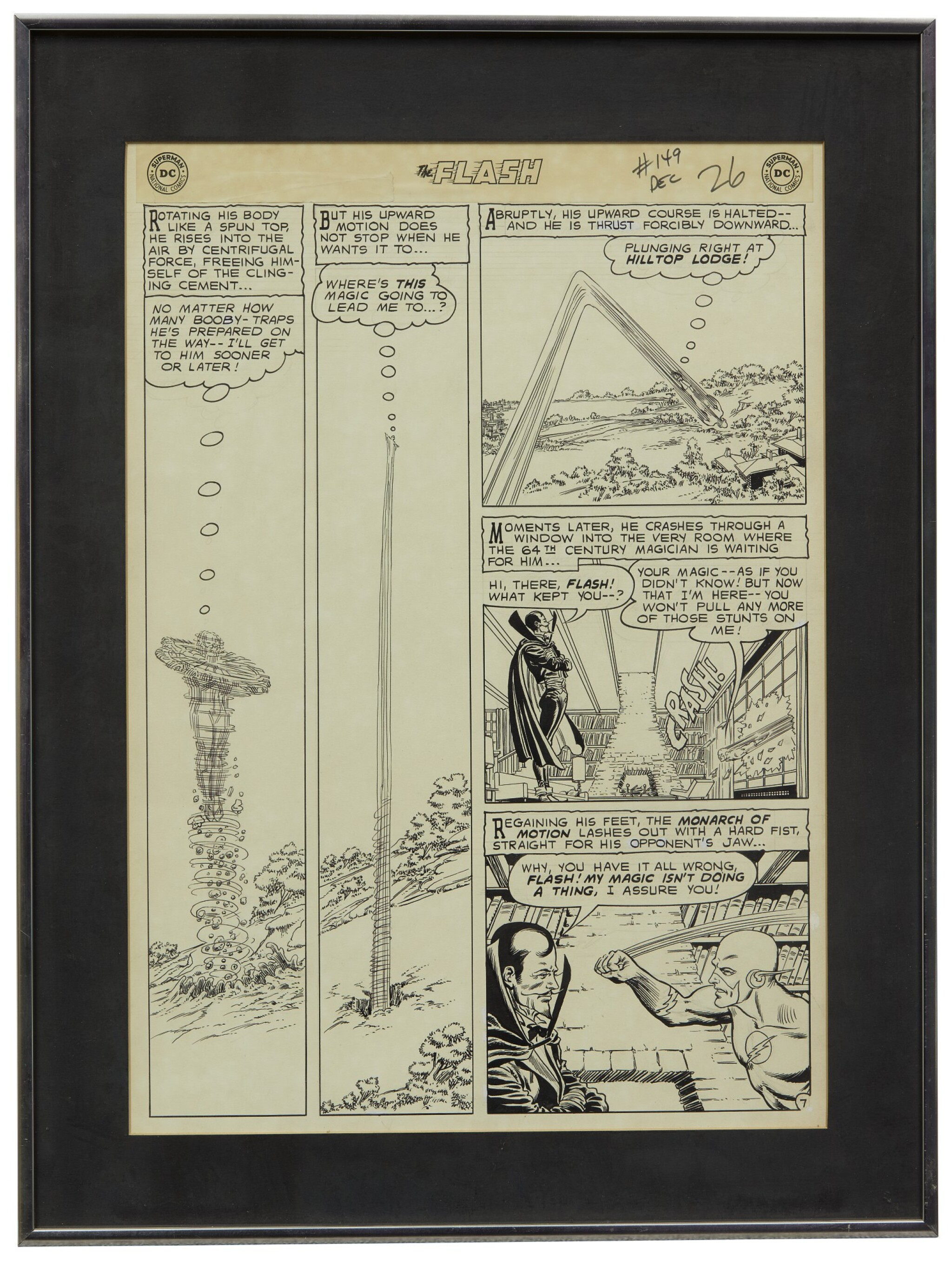 View full screen - View 1 of Lot 143. THE FLASH | Carmine Infantino and Murphy Anderson. The Flash #149 Story Page 7. [DC Comics, 1964].