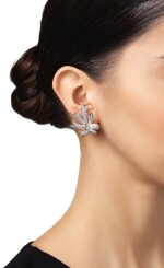 PAIR OF DIAMOND 'RIBBON' EARCLIPS, SCHLUMBERGER FOR TIFFANY & CO.