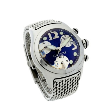 View 3. Thumbnail of Lot 222. REFERENCE 396.150.20 BUBBLE A STAINLESS STEEL CHRONOGRAPH WRISTWATCH, CIRCA 2000.
