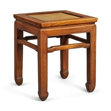 View 1. Thumbnail of Lot 146. A 'huanghuali' stool, Qing dynasty .