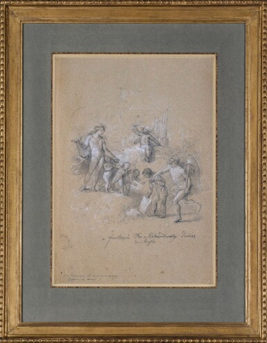 View 2. Thumbnail of Lot 89. JOHAN JOSEPH ZOFFANY, R.A.   A FRONTISPIECE FOR AN EXTRAORDINARY GENIUS IN MUSIC.