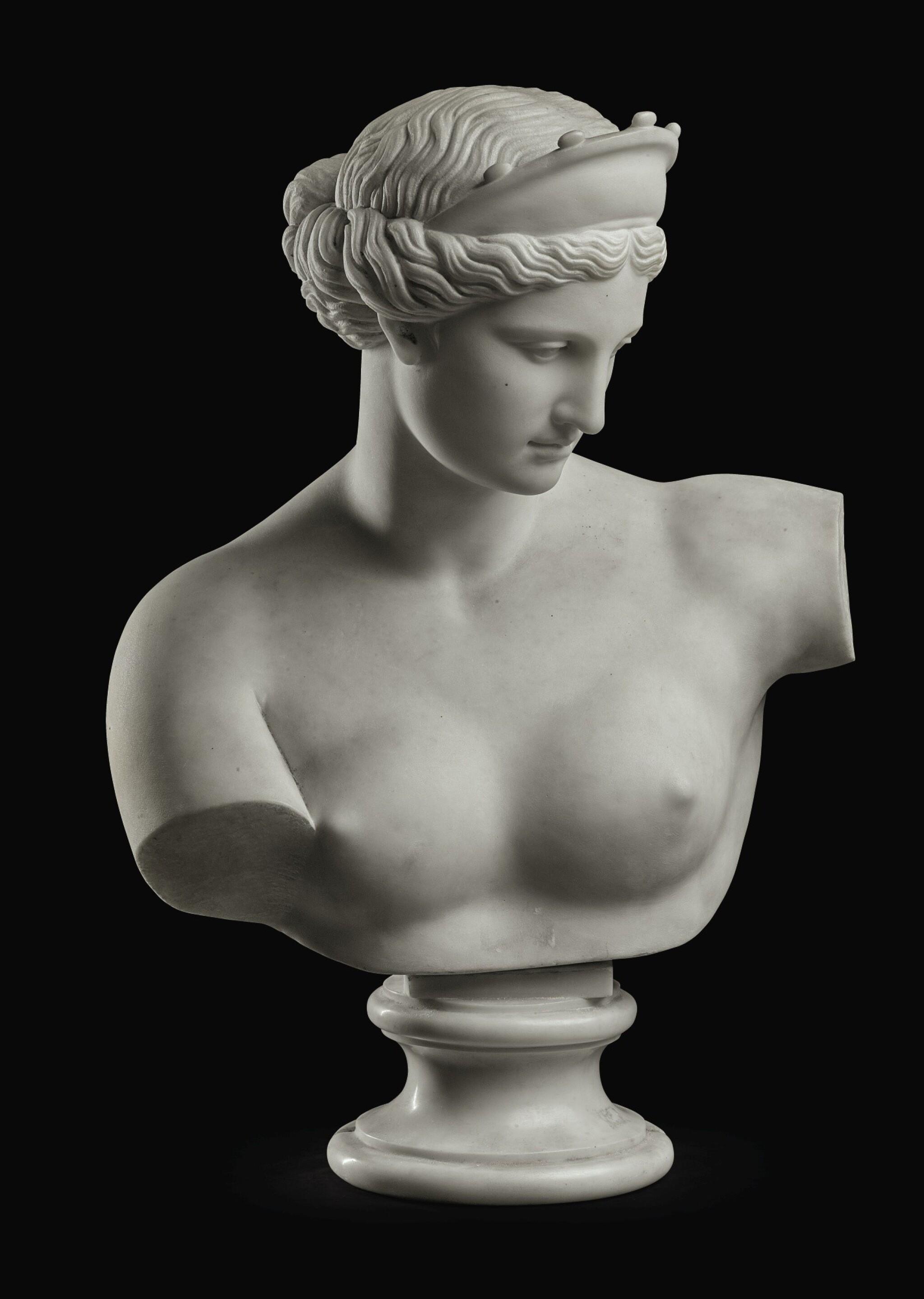GAETANO ROSSI, AFTER THE ANTIQUE   BUST OF THE VENUS OF CAPUA