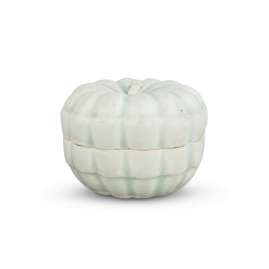 View 1. Thumbnail of Lot 191. A 'Qingbai' melon-form box and cover, Southern Song dynasty | 南宋 青白釉瓜棱式蓋盒.