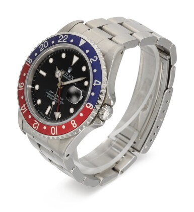 View 2. Thumbnail of Lot 5. ROLEX   GMT-MASTER, REFERENCE 16700, STAINLESS STEEL DUAL-TIME WRISTWATCH WITH DATE AND BRACELET, CIRCA 1990 .